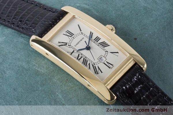 Used luxury watch Cartier Tank Américaine 18 ct gold automatic Kal. 077 ETA 2671 Ref. 1725  | 160949 13