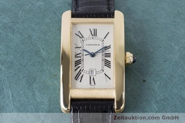 Used luxury watch Cartier Tank Américaine 18 ct gold automatic Kal. 077 ETA 2671 Ref. 1725  | 160949 14