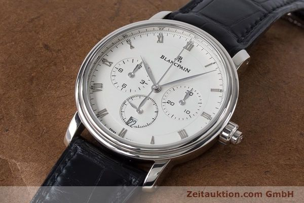 Used luxury watch Blancpain Villeret chronograph 18 ct white gold automatic Kal. M 185 Ref. 6185-1546-55  | 160954 01