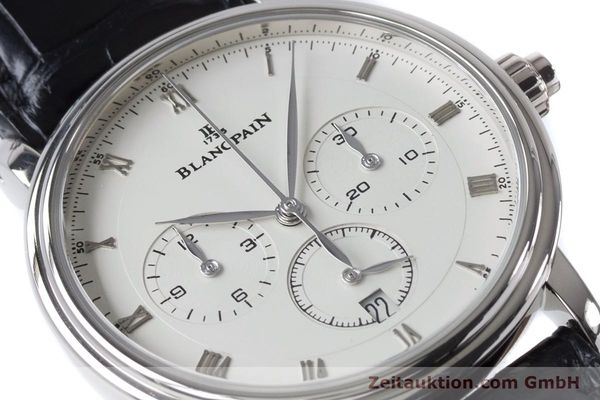 Used luxury watch Blancpain Villeret chronograph 18 ct white gold automatic Kal. M 185 Ref. 6185-1546-55  | 160954 02