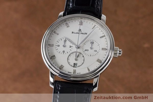 Used luxury watch Blancpain Villeret chronograph 18 ct white gold automatic Kal. M 185 Ref. 6185-1546-55  | 160954 04