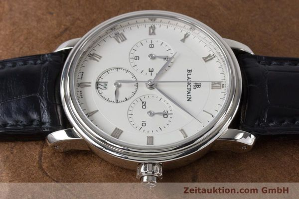 Used luxury watch Blancpain Villeret chronograph 18 ct white gold automatic Kal. M 185 Ref. 6185-1546-55  | 160954 05