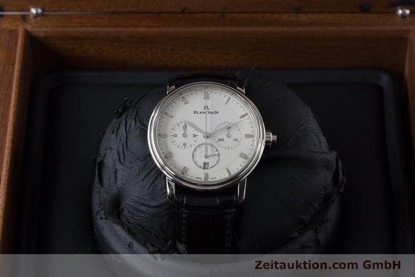 Used luxury watch Blancpain Villeret chronograph 18 ct white gold automatic Kal. M 185 Ref. 6185-1546-55  | 160954 11
