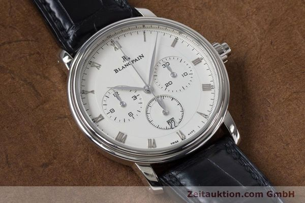 Used luxury watch Blancpain Villeret chronograph 18 ct white gold automatic Kal. M 185 Ref. 6185-1546-55  | 160954 18