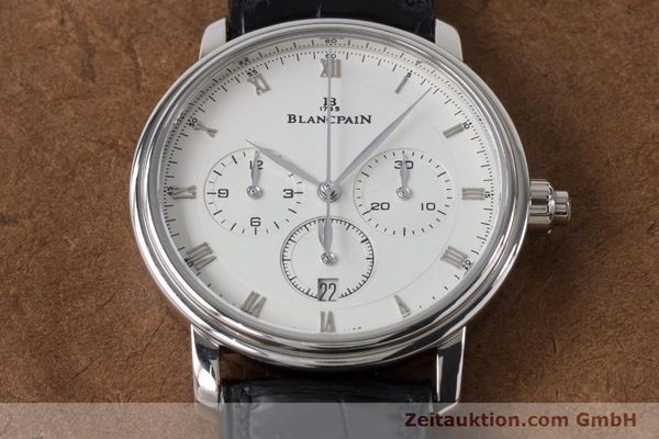 Used luxury watch Blancpain Villeret chronograph 18 ct white gold automatic Kal. M 185 Ref. 6185-1546-55  | 160954 19