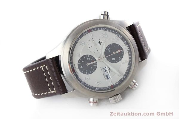 Used luxury watch IWC Fliegeruhr chronograph steel automatic Kal. 79230 Ref. 371806  | 160955 03