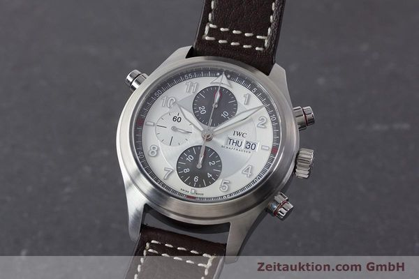 Used luxury watch IWC Fliegeruhr chronograph steel automatic Kal. 79230 Ref. 371806  | 160955 04