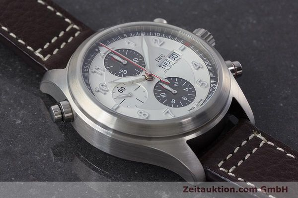 Used luxury watch IWC Fliegeruhr chronograph steel automatic Kal. 79230 Ref. 371806  | 160955 16