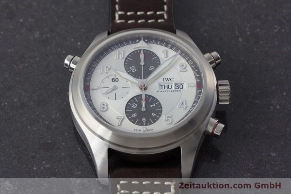 Used luxury watch IWC Fliegeruhr chronograph steel automatic Kal. 79230 Ref. 371806  | 160955 17