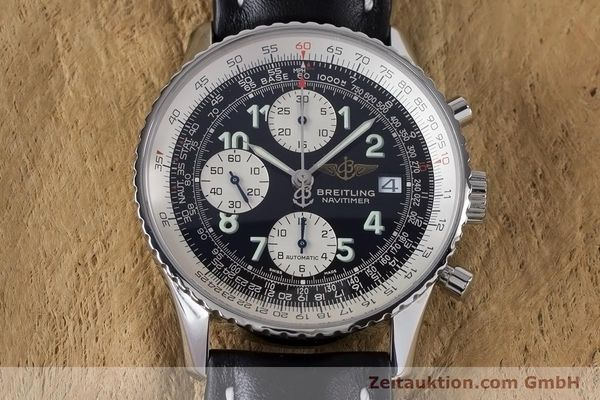 Used luxury watch Breitling Navitimer chronograph steel automatic Kal. B13 ETA 7750 Ref. A13322  | 160957 14
