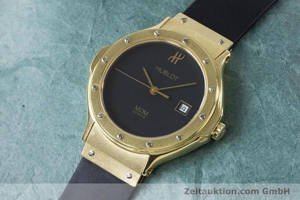 Used luxury watch Hublot MDM 18 ct gold quartz Kal. ETA 956112 Ref. 1391.3  | 160958 01