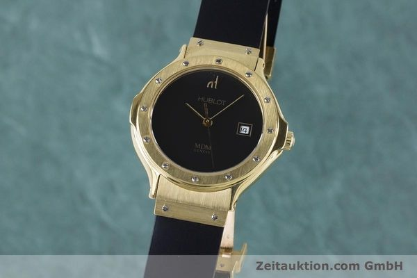 HUBLOT MDM OR 18 CT QUARTZ KAL. ETA 956112 LP: 14400EUR  [160958]
