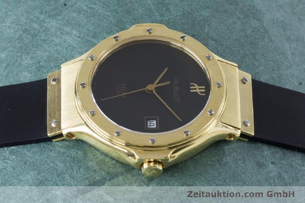 Used luxury watch Hublot MDM 18 ct gold quartz Kal. ETA 956112 Ref. 1391.3  | 160958 05