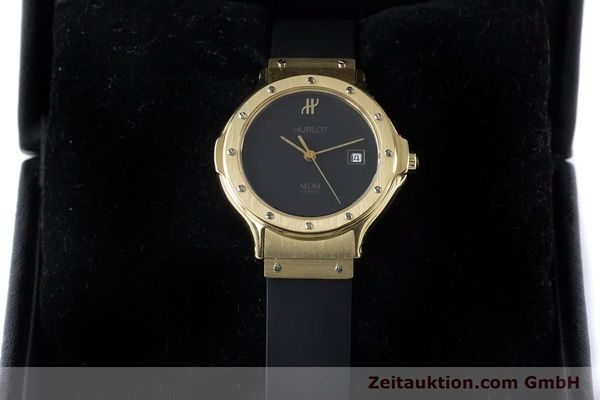 Used luxury watch Hublot MDM 18 ct gold quartz Kal. ETA 956112 Ref. 1391.3  | 160958 07