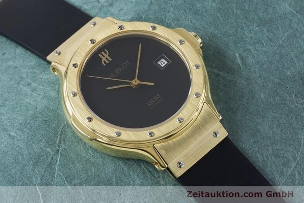 Used luxury watch Hublot MDM 18 ct gold quartz Kal. ETA 956112 Ref. 1391.3  | 160958 12