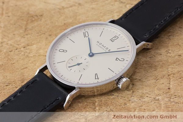 Used luxury watch Nomos Tangente steel manual winding Kal. 7001  | 160959 01