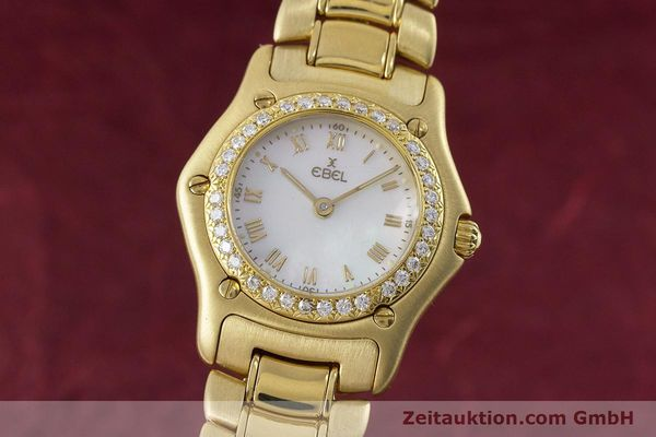 EBEL 1911 18 CT GOLD QUARTZ KAL. 90 LP: 14500EUR [160961]