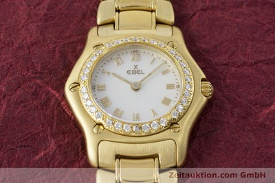 EBEL LADY 18K (0,750) GOLD 1911 DAMENUHR DIAMANTEN VP: 14500,- EURO [160961]