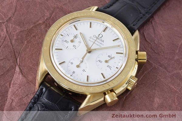 Used luxury watch Omega Speedmaster chronograph 18 ct gold automatic Kal. 1140 Ref. 1750032  | 160968 01