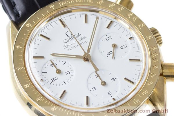 Used luxury watch Omega Speedmaster chronograph 18 ct gold automatic Kal. 1140 Ref. 1750032  | 160968 02