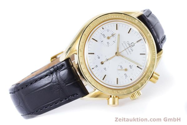 Used luxury watch Omega Speedmaster chronograph 18 ct gold automatic Kal. 1140 Ref. 1750032  | 160968 03