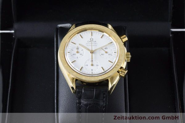 Used luxury watch Omega Speedmaster chronograph 18 ct gold automatic Kal. 1140 Ref. 1750032  | 160968 07