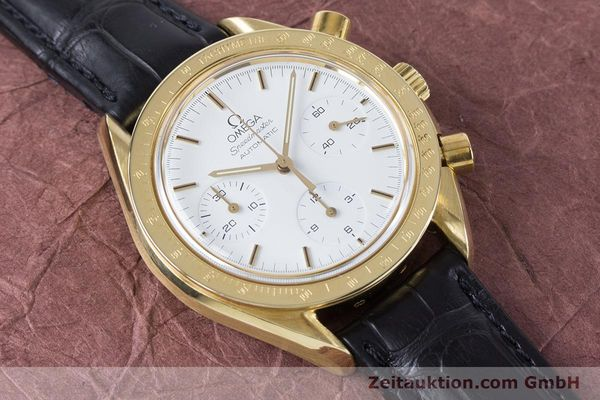 Used luxury watch Omega Speedmaster chronograph 18 ct gold automatic Kal. 1140 Ref. 1750032  | 160968 13