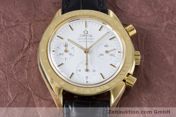 Used luxury watch Omega Speedmaster chronograph 18 ct gold automatic Kal. 1140 Ref. 1750032  | 160968 14