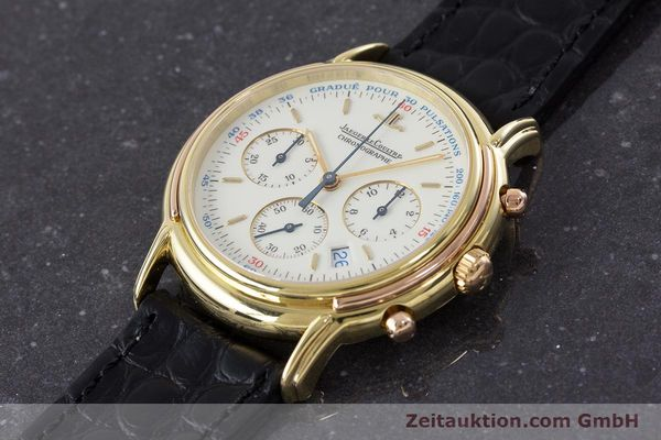Used luxury watch Jaeger Le Coultre Odysseus chronograph 18 ct gold quartz Kal. 630 Ref. 165.7.30  | 160969 01