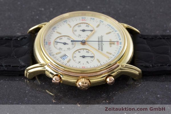 Used luxury watch Jaeger Le Coultre Odysseus chronograph 18 ct gold quartz Kal. 630 Ref. 165.7.30  | 160969 05