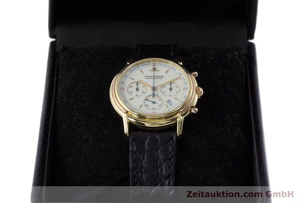 Used luxury watch Jaeger Le Coultre Odysseus chronograph 18 ct gold quartz Kal. 630 Ref. 165.7.30  | 160969 07