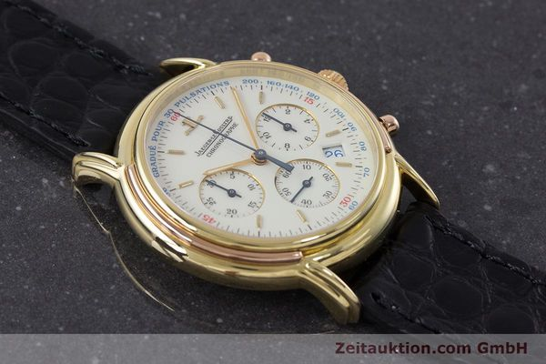 Used luxury watch Jaeger Le Coultre Odysseus chronograph 18 ct gold quartz Kal. 630 Ref. 165.7.30  | 160969 14