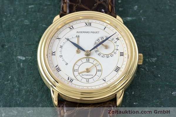 Used luxury watch Audemars Piguet Dual Time 18 ct gold automatic Kal. 2129  | 160972 14