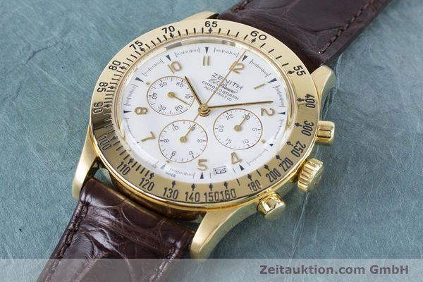 Used luxury watch Zenith El Primero chronograph 18 ct gold automatic Kal. 400 Ref. 06-0050-400  | 160974 01