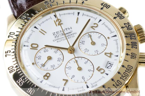 Used luxury watch Zenith El Primero chronograph 18 ct gold automatic Kal. 400 Ref. 06-0050-400  | 160974 02