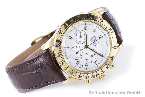 Used luxury watch Zenith El Primero chronograph 18 ct gold automatic Kal. 400 Ref. 06-0050-400  | 160974 03