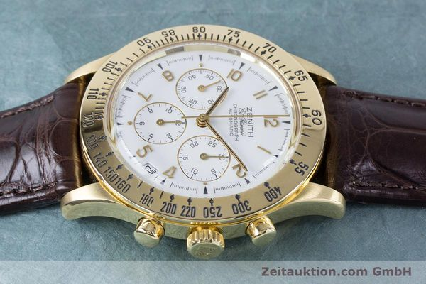 Used luxury watch Zenith El Primero chronograph 18 ct gold automatic Kal. 400 Ref. 06-0050-400  | 160974 05