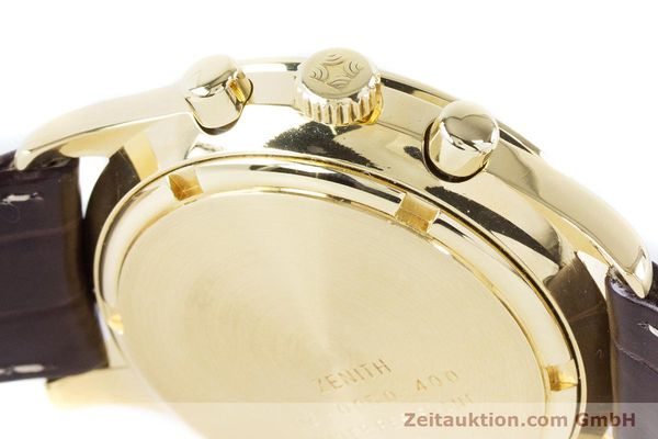 Used luxury watch Zenith El Primero chronograph 18 ct gold automatic Kal. 400 Ref. 06-0050-400  | 160974 08
