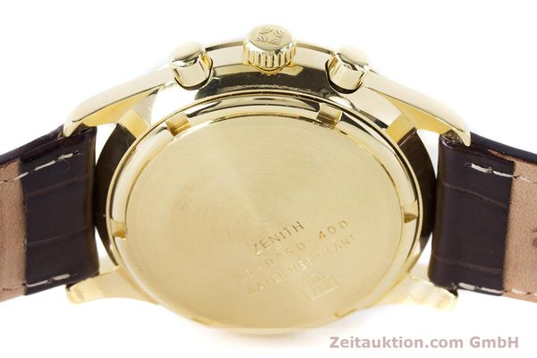 Used luxury watch Zenith El Primero chronograph 18 ct gold automatic Kal. 400 Ref. 06-0050-400  | 160974 10