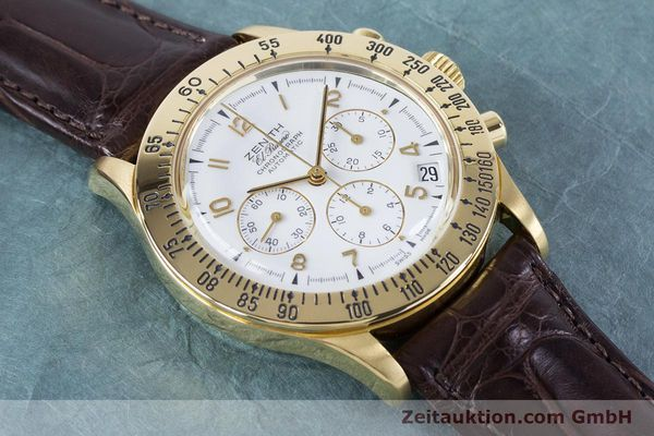 Used luxury watch Zenith El Primero chronograph 18 ct gold automatic Kal. 400 Ref. 06-0050-400  | 160974 12