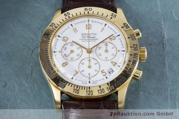 Used luxury watch Zenith El Primero chronograph 18 ct gold automatic Kal. 400 Ref. 06-0050-400  | 160974 13