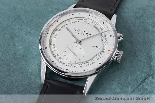 Used luxury watch Nomos Zürich Weltzeituhr steel automatic Kal. XI  | 160985 01