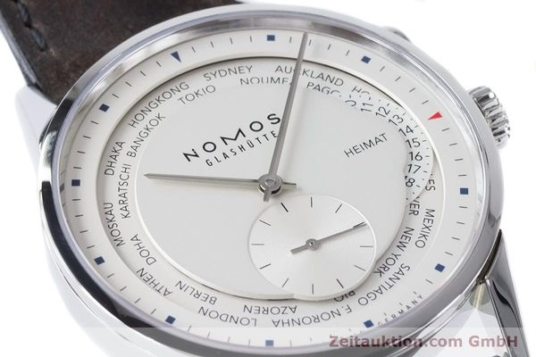 Used luxury watch Nomos Zürich Weltzeituhr steel automatic Kal. XI  | 160985 02