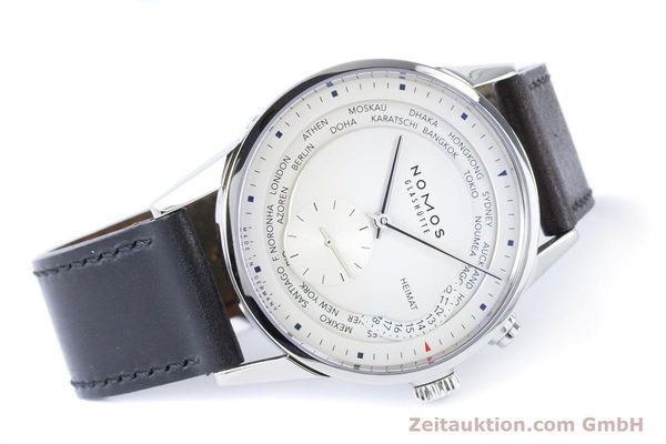 Used luxury watch Nomos Zürich Weltzeituhr steel automatic Kal. XI  | 160985 03