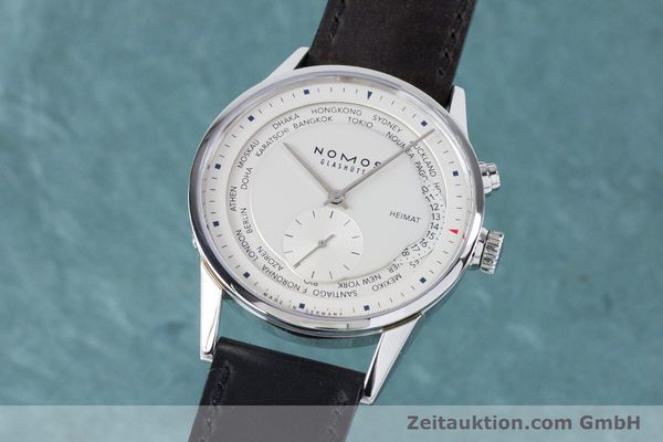 Used luxury watch Nomos Zürich Weltzeituhr steel automatic Kal. XI  | 160985 04
