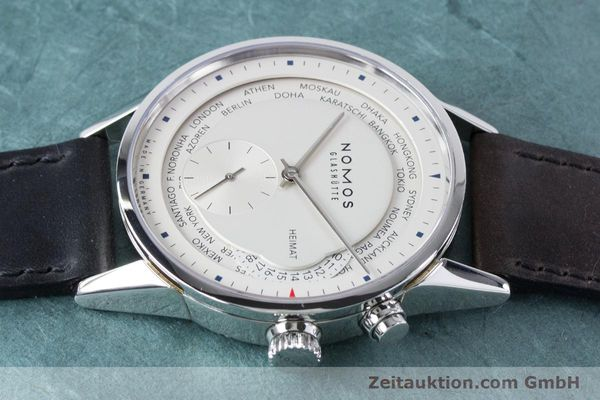 Used luxury watch Nomos Zürich Weltzeituhr steel automatic Kal. XI  | 160985 05