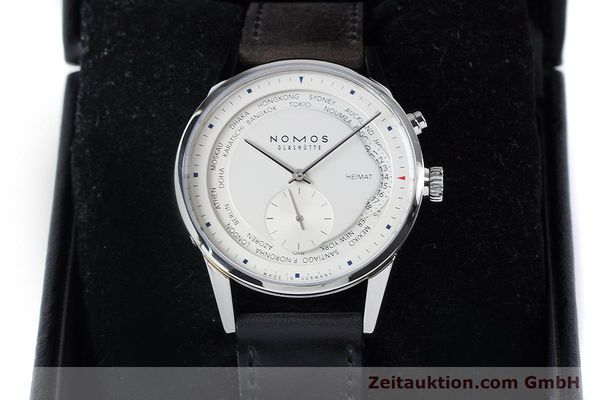 Used luxury watch Nomos Zürich Weltzeituhr steel automatic Kal. XI  | 160985 07
