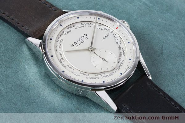 Used luxury watch Nomos Zürich Weltzeituhr steel automatic Kal. XI  | 160985 16
