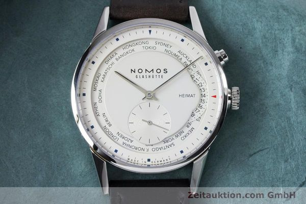 Used luxury watch Nomos Zürich Weltzeituhr steel automatic Kal. XI  | 160985 17