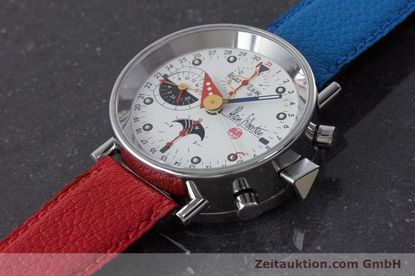 Used luxury watch Alain Silberstein Krono Bauhaus chronograph steel automatic Kal. ETA 7751  | 160987 01